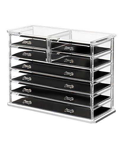 Saganizer Clear Acrylic Jewelry Organizer And Makeup