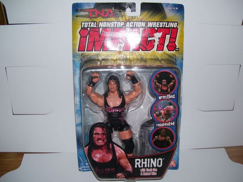 Another very nice 2006 TNA Impact wrestler Rhino. https://www.facebook.com/bandcollectibles