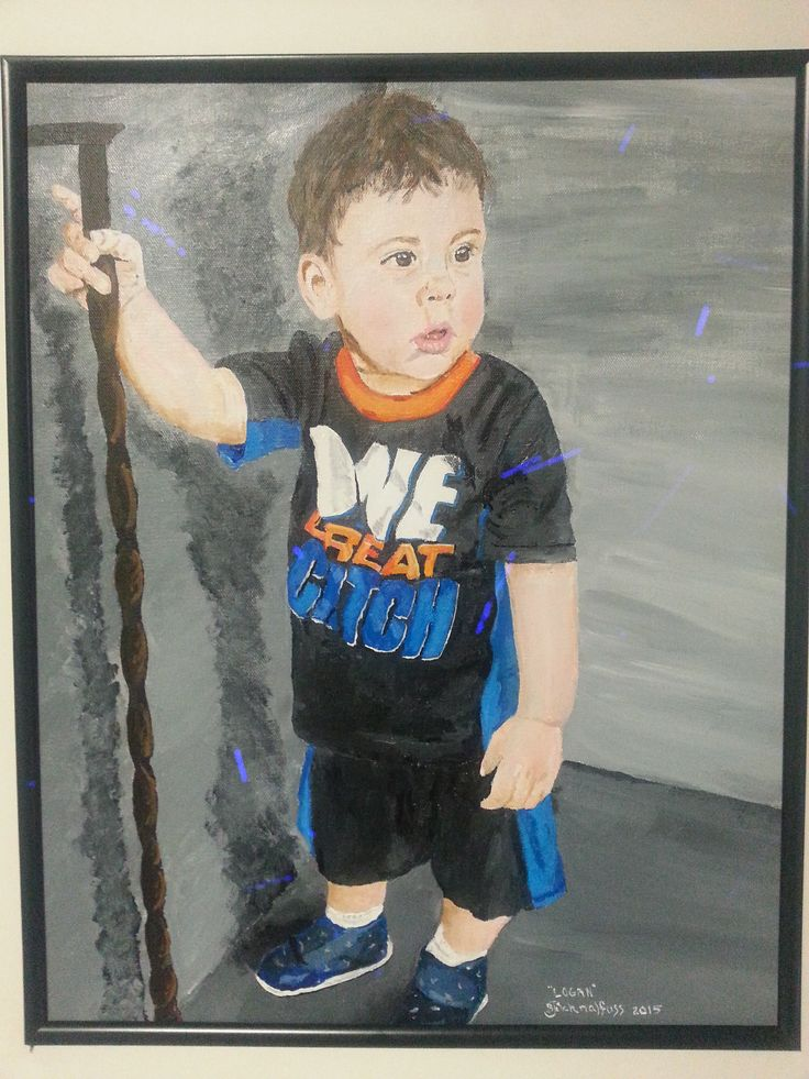 Commissioned to paint Little Logan!