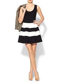 Pim + Larkin Stripe Fit N Flare Dress