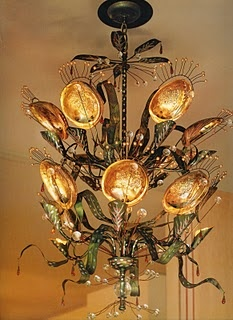 Tony Duquette Abalone Shell Chandelier