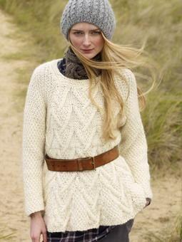 Detailed chic sweater free knitting pattern