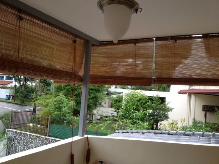 Bamboo Chicks/Blinds Are Very Conventional Blinds That People Use On Their  Balcony Or Gardens