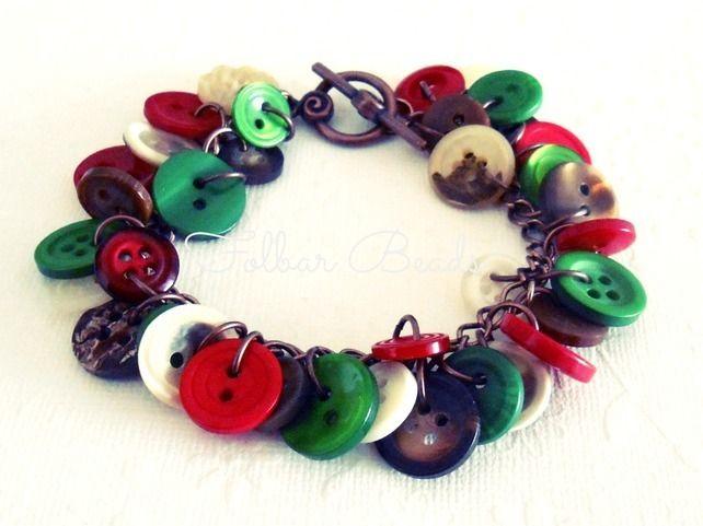 Traditional festive button bracelet £12.00