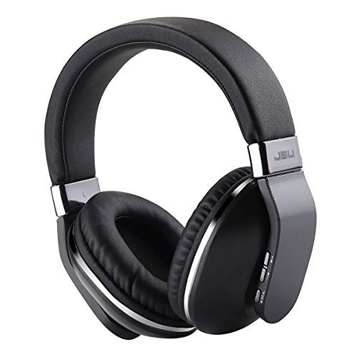 Amazon Prime Deals Wireless HeadphonesBluetooth Gaming Work Travel On-Ear Over-Ear Headsets with Mic Stereo Bass Earphones for iPhone iPad iPod Android Devices (Grey)