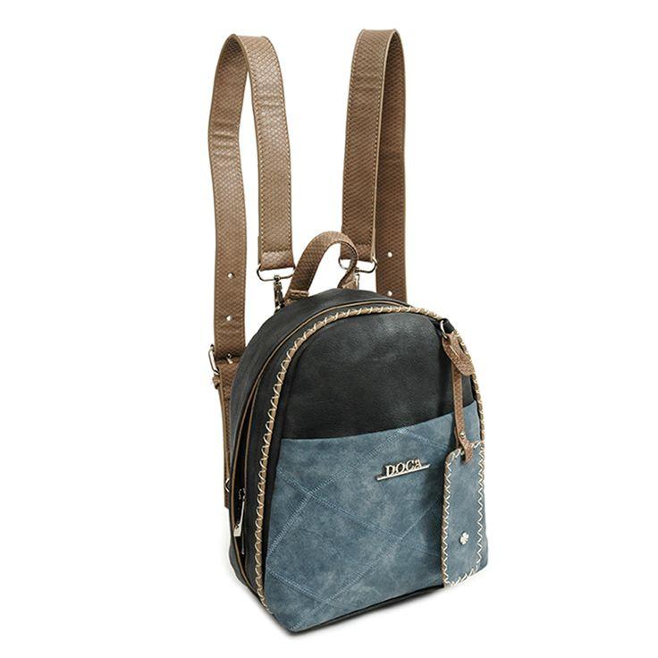 Τσάντα πλάτης σε μπλε χρώμα με διακοσμητικές μπλε λεπτομέρειες,κατασκευασμένη…