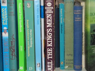 "From ""Rainbow over Bengal"" comes this amusing post, ""The [color-coded] bookshelf"" -- The blogger expresses (at the END) pretty much my thoughts on ""the keepers of the rainbow books."" (Said opinion was apparently also held by those occupying the house with her, as evidenced by this ""dark purple book [that she did not place there] in the midst of a sort of sea colour melange."") More photos at click-through.Colours Melange, Rainbows Book, Purple Book, Sea Colours, Dark Purple, Bloggers Express, Amusement Post"