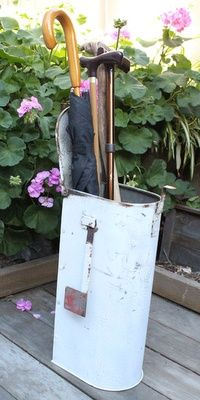 Old Mailbox...re-purposed into an umbrella holder!!