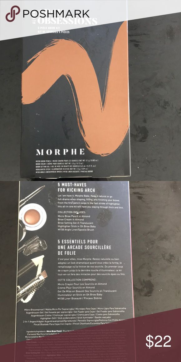 Morphe 5 piece brow kit Color Almond Brand New in …