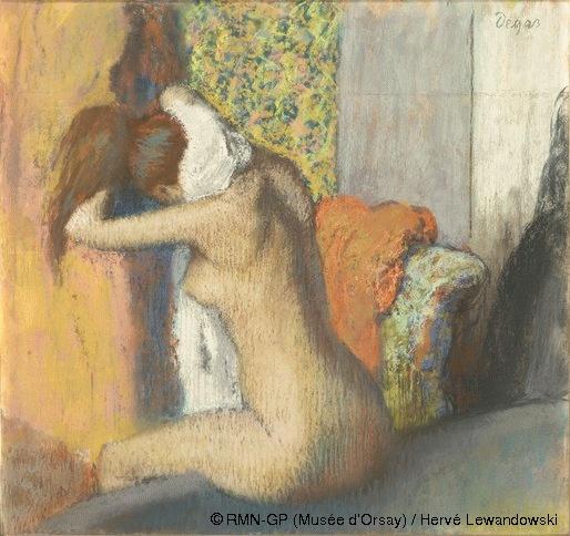 Edgar Degas,Après le bain, femme nue s'essuyant la nuque,© RMN-GP (Musée d'Orsay) / Hervé Lewandowski