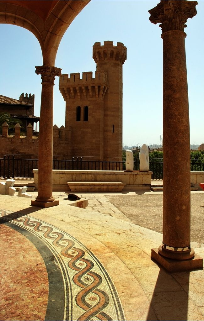 March Museum | view of Almudaida Palace from March Museum, Palma de Mallorca, Spain