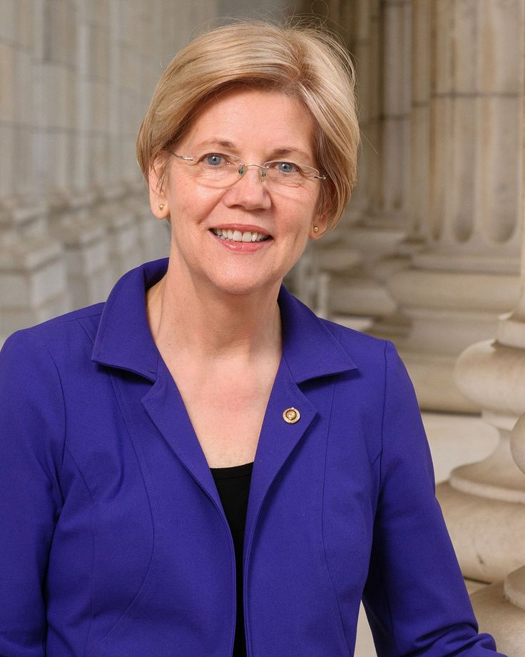 """""""Elizabeth Ann Warren is an American politician, academic, and author...Warren is an active consumer protection advocate whose efforts led to the conception and establishment of the U.S. Consumer Financial Protection Bureau..."""" 