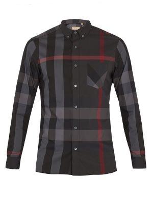 Thornaby House-check cotton-blend shirt   Burberry   MATCHESFASHION.COM US