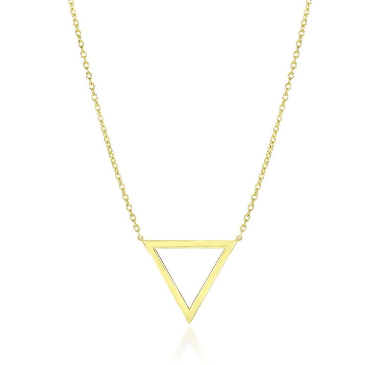 14K Yellow Gold Delta Symbol Chain Necklace