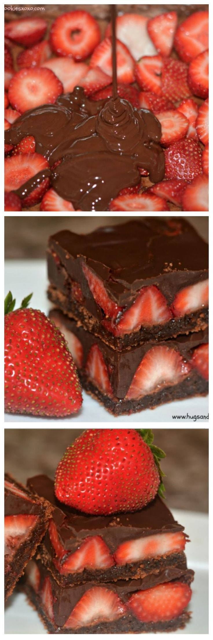 CHOCOLATE DIPPED STRAWBERRY BROWNIES