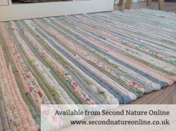Recycled Pastel Light Multi Colours Soft Washable Cotton Rag Rug
