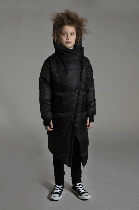 NUNUNU  I  LONG DOWN COAT  black