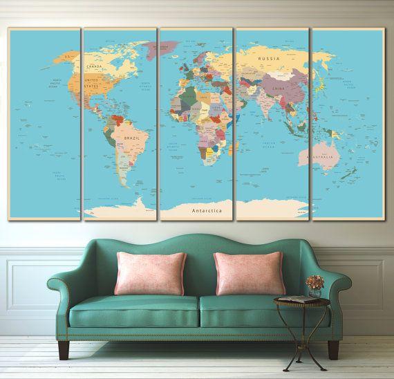 25 best ideas about world map canvas on pinterest world map painting map canvas and world. Black Bedroom Furniture Sets. Home Design Ideas