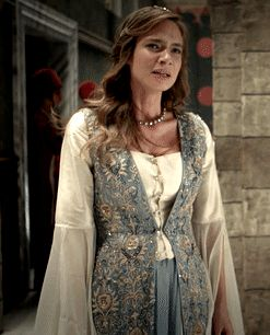 Telli Humasha's embroidered blue/white kaftan,... - Magnificent Wardrobe