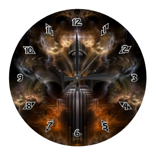 Turbulence Fractal Art Clock $28.10 - Click Here http://xzendor7.com/xzendor7-wall+clocks.php