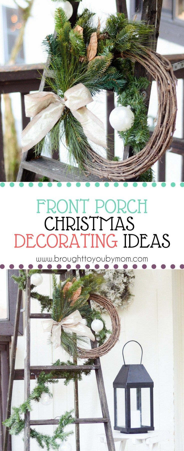 These Front Porch Christmas Decorating Ideas Will Inspire You To Decorate Yo Front Porch Christmas Decor Pretty Christmas Decorations Fun Christmas Decorations
