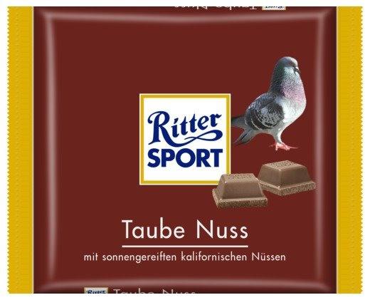 RITTER SPORT Fake Schokolade Taube NussRittersport Fake, Fake Cultivar, Ritter Sports Fake, To You, Funny, Schokolade Taube, Taube Nuss, Fake Sweetie, Fake Schokolade