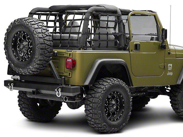 Redrock 4x4 Jeep Wrangler Cargo Wrap Around Net One Piece J101185 92 06 Jeep Wrangler Yj Tj Jeep Wrangler Yj Jeep Wrangler Jeep