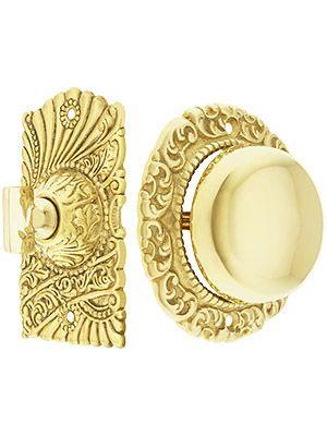 Roanoke Twist Doorbell In Unlacquered Brass | House of Antique Hardware