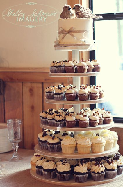 small rustic wedding cake with cupcakes 15 must see wedding cupcake towers pins cupcake wedding 20216