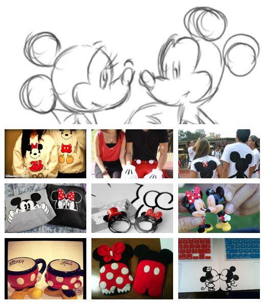 Minnie and Mickey cute couple stuff <3