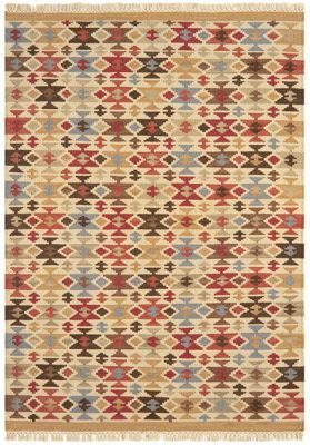 Debenhams Wool 'Traditional Geo Kelim' rug | Debenhams