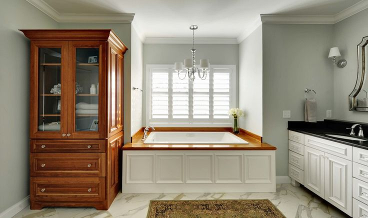 Spectacular Teak Bathroom Furniture Enhancing Your Bathroom Features : Pastel Wall Paint For Contemporary Bathroom With Nice Bathtub On Marble Floor Design And Cool Vanity Under Pretty Mirror Facing Teak Bathroom Furniture