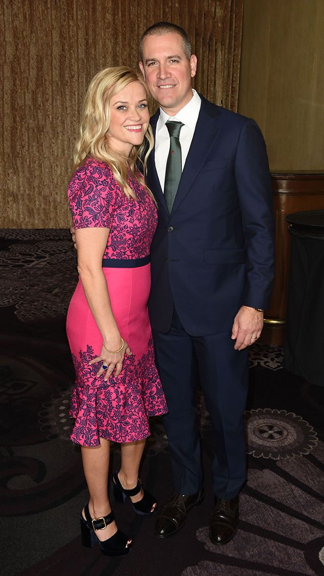 Girls Inc. Los Angeles Celebration Luncheon from Party Pics: Hollywood  Reese Witherspoon is pretty in Draper James pink with her talent agent husband Jim Toth.