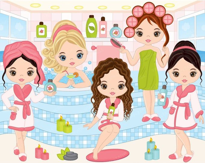 Spa 60 Chicas Clipart Vector Chica De Spa Spa Fiesta Etsy Art And Craft Videos Arts And Crafts For Teens Easy Arts And Crafts