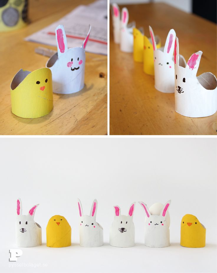 Toilet Roll Egg Cups by Pysselbolaget