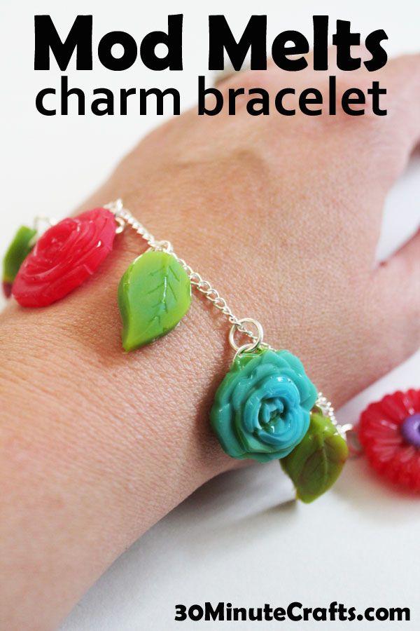 Mod Melts Charm Bracelet! so cute with #modmelter #modpodge #DIY