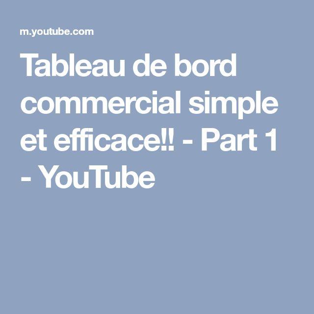 Tableau de bord commercial simple et efficace!! - Part 1 - YouTube
