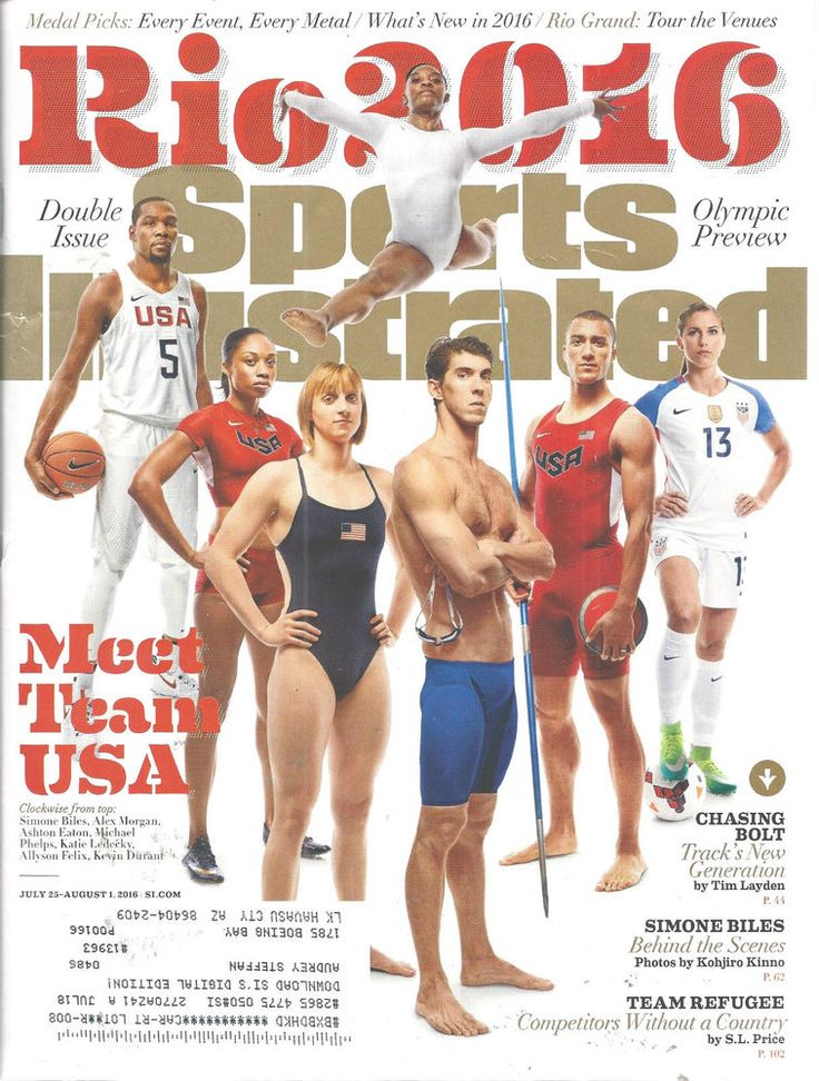 Phelps Ledecky Biles Olympics Medalists Sports lllustrated Magazine July/Aug     #doesnotapply