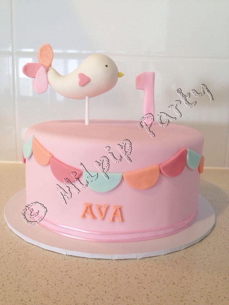 1st Birthday Cute Bird Cake