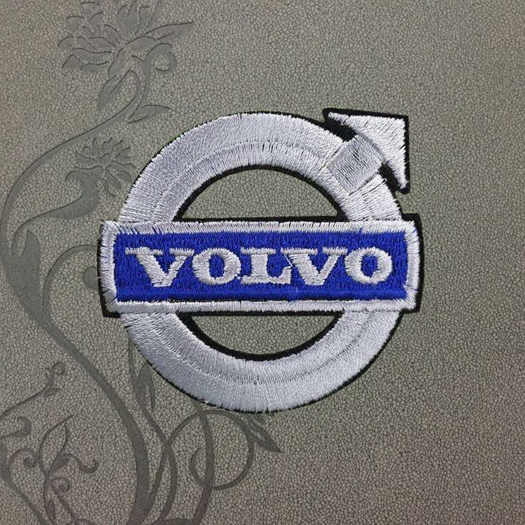 Volvo cars logo clothing patches polo embroidered iron on