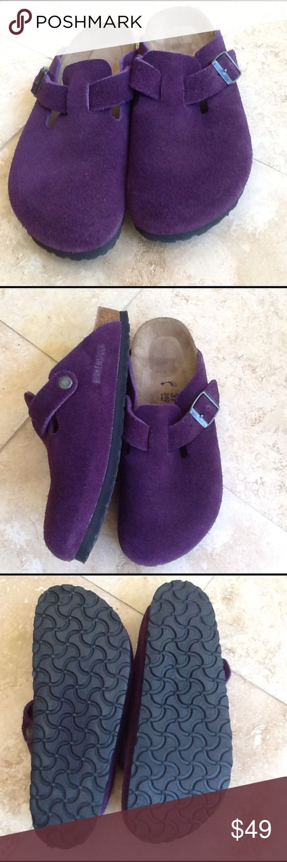Birkenstock sandals Rare purple color..only ones on Poshmark. In EUC... See sizing on shoe.. Ask question if needed before buying. Birkenstock Shoes Sandals