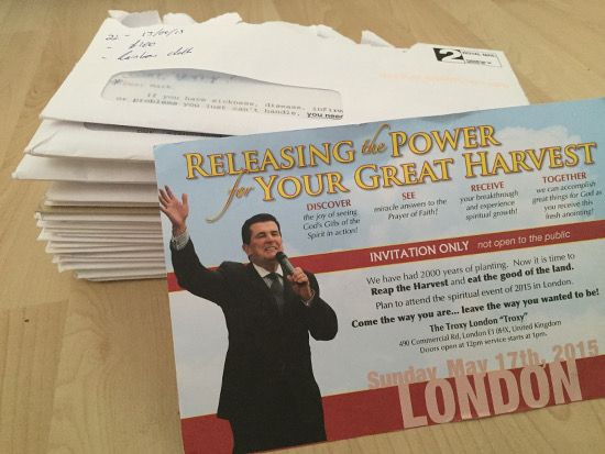 A Skeptics Group Has Been Documenting Televangelist Peter Popoff's Letters for the Past Year