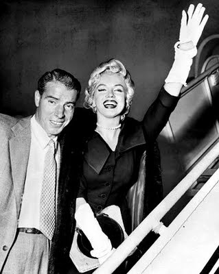 """Marilyn and Joe....Monroe and Joe DiMaggio were married in San Francisco on January 14, 1954. They traveled to Japan soon after, combining a honeymoon with a business trip previously arranged by DiMaggio. For two weeks she took a secondary role to DiMaggio as he conducted his business, having told a reporter, """"Marriage is my main career from now on."""""""