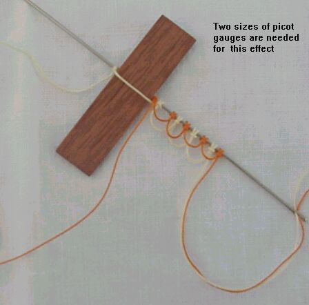 Bicolor Needle Tatted Rings - Tatting ... I much prefer needle tatting to shuttle work.
