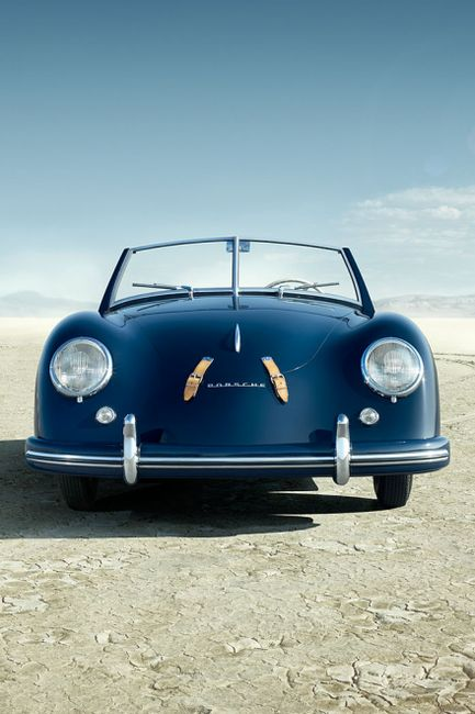 Porsche 356 Speedster....okay....cool....and that blue
