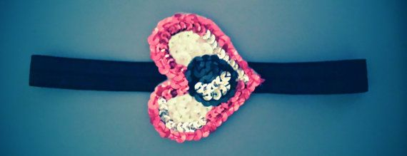 sequin natty boh eye love Baltimore headband by HAPPYLA on Etsy, $15.00