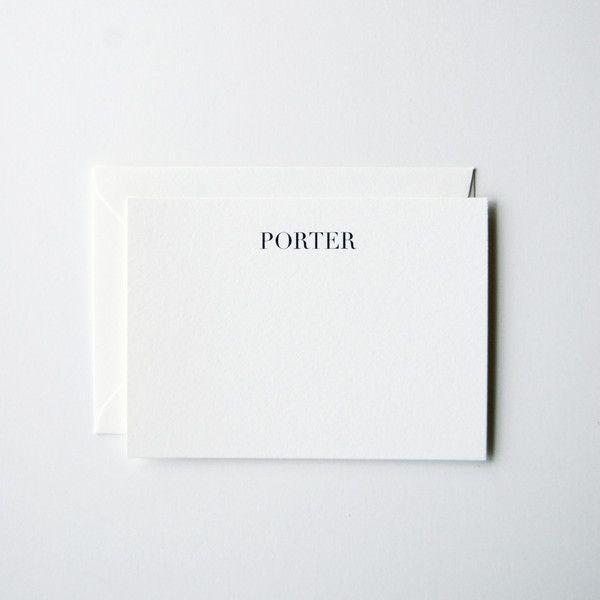 Porter - Personalized Stationery Set