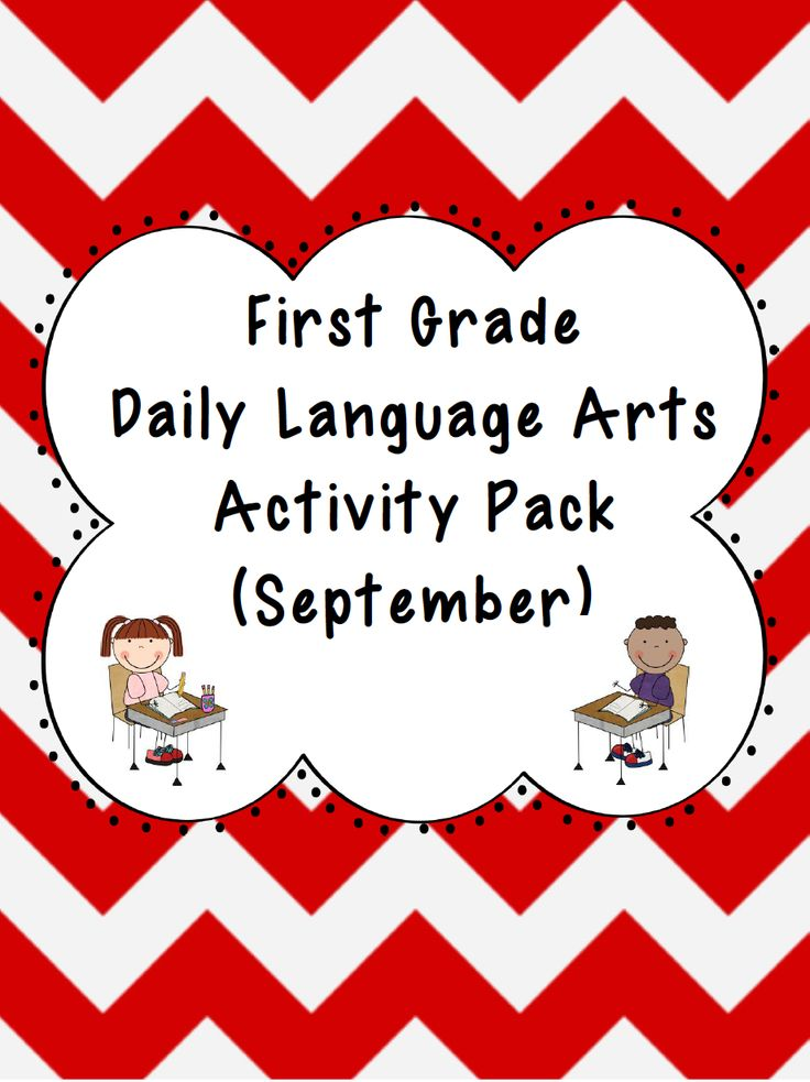 1st Grade Language Arts Worksheet Pack (September)
