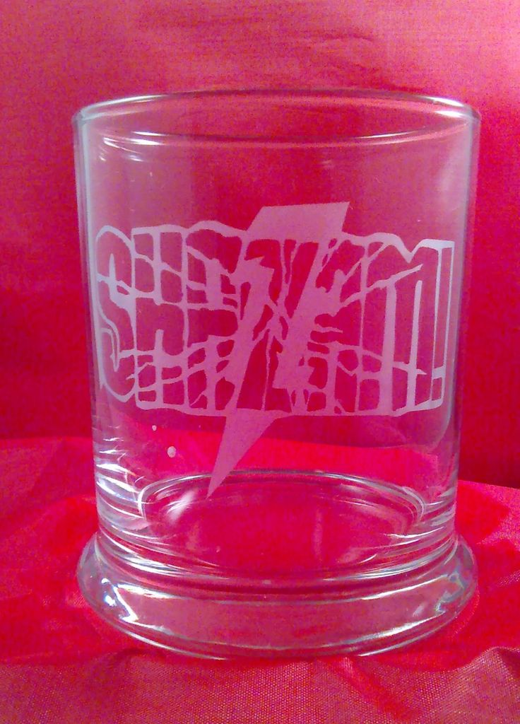 SHAZAM!  sand etched rocks glass, Shazam tumbler, Shazam Comic, Shazam mug, Shazam Pint by FunEtchedGlass on Etsy