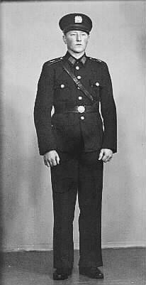 Finnish police uniform 1941, photo from Finnish Police